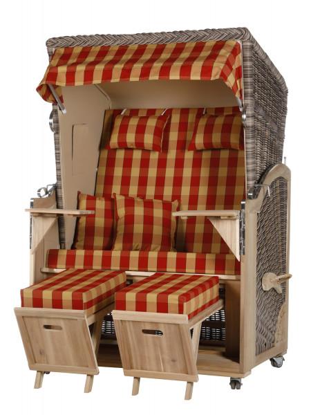 Akazienholz Strandkorb 2-Sitzer Volllieger SO-BE-Design 15