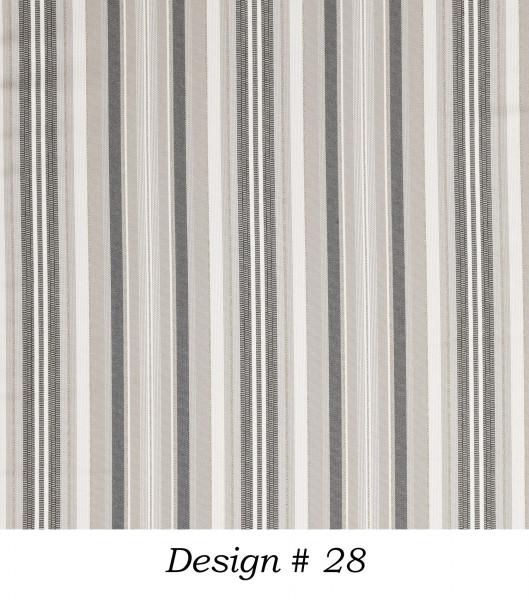 Markisenstoff Dralon® Design 28 Grau Blau Weiß gestreift