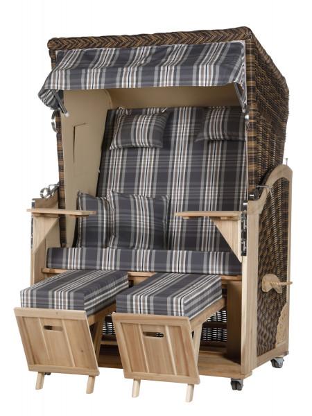 Akazienholz Strandkorb 2-Sitzer Volllieger CR-BE-Design 18