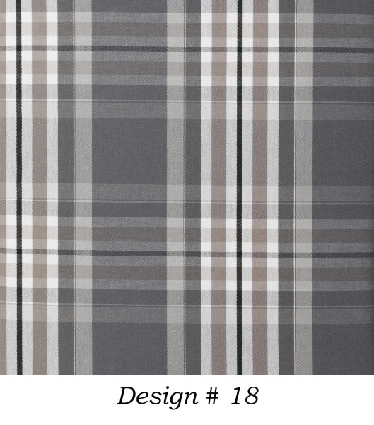 Markisenstoff Dralon® Design 18 Schwarz Grau Beige Schwarz kariert