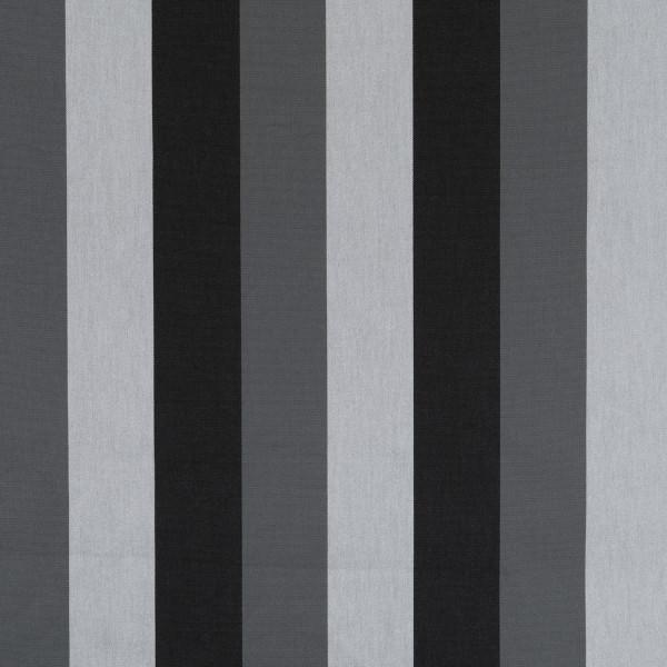 Markisenstoff Dralon® Design 71 Hellgrau, Dunkelgrau,Schwarz gestreift
