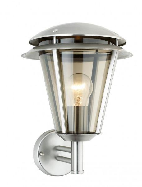 """Edelstahl Wandlampe Außenlampe """" Nebraska """" E27-Fassung und LED geeignet"""