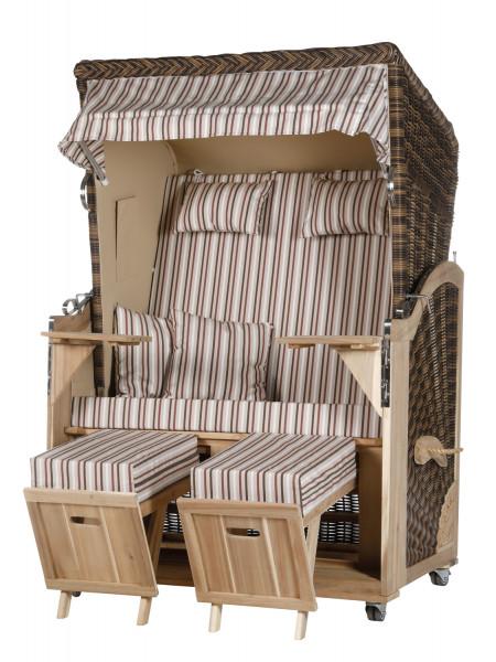 Akazienholz Strandkorb 2-Sitzer Volllieger CR-BE-Design 20