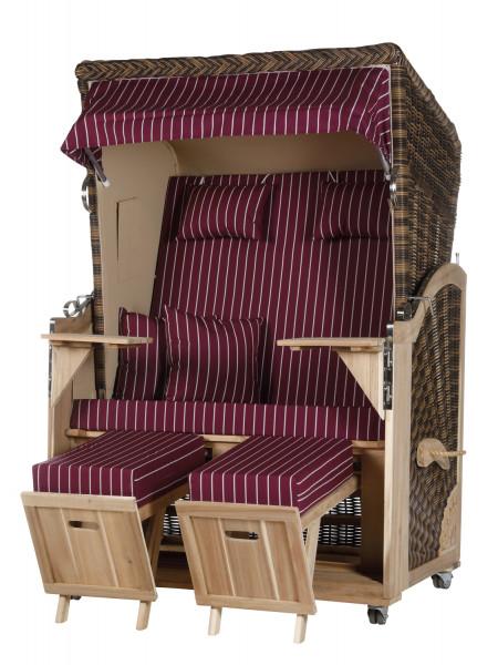 Akazienholz Strandkorb 2-Sitzer Volllieger CR-BE-Design 14