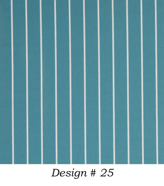 Markisenstoff Dralon® Design 25 Türkis Nadelstreifen Weiß