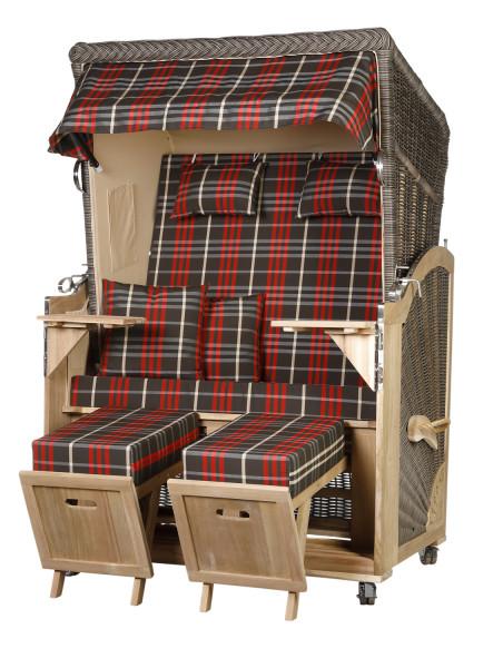 Akazienholz Strandkorb 2-Sitzer Volllieger MO-BE-Design 13