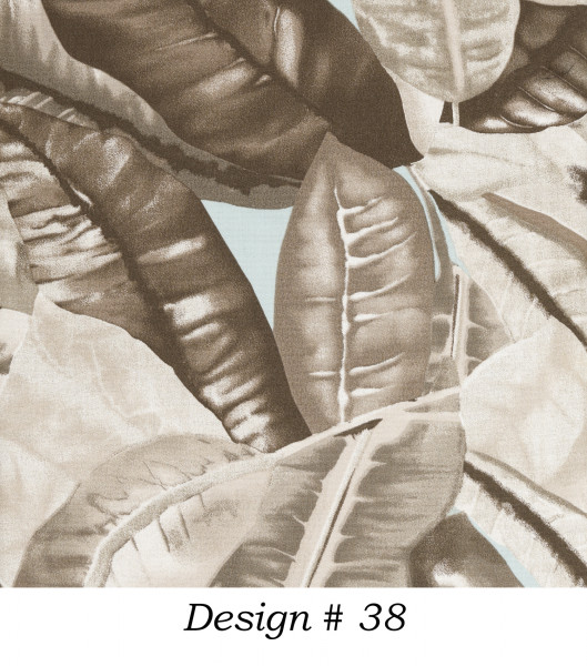 Markisenstoff Dralon® Design 38 Jungle Taupe Blau Braun