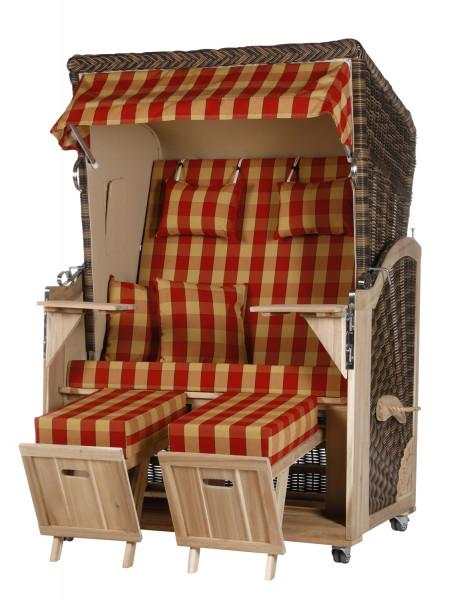 Akazienholz Strandkorb 2-Sitzer Volllieger CR-BE-Design 15