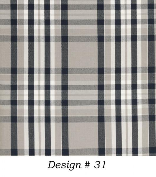 Markisenstoff Dralon® Design 31 Blau Grau Weiß kariert